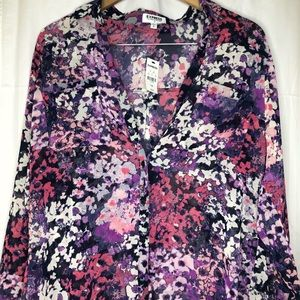 *NWT* Express Floral Button Down